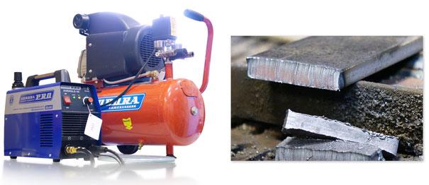 Аппарат плазменной резки, компрессор и результат
